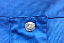 Royal blue breeches buttons