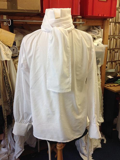 White cotton shirt with neckcloth