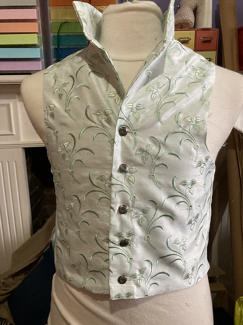 Pale green embroidered waistcoat