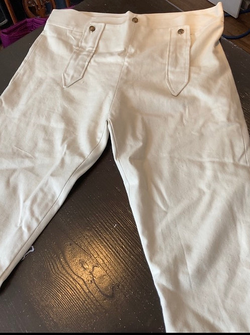 Ivory cotton twill breeches