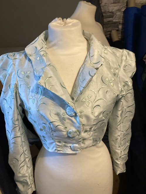 Faux silk embroidered Spencer