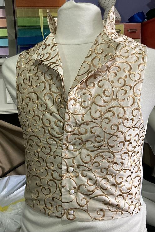 Silk embroidered waistcoat