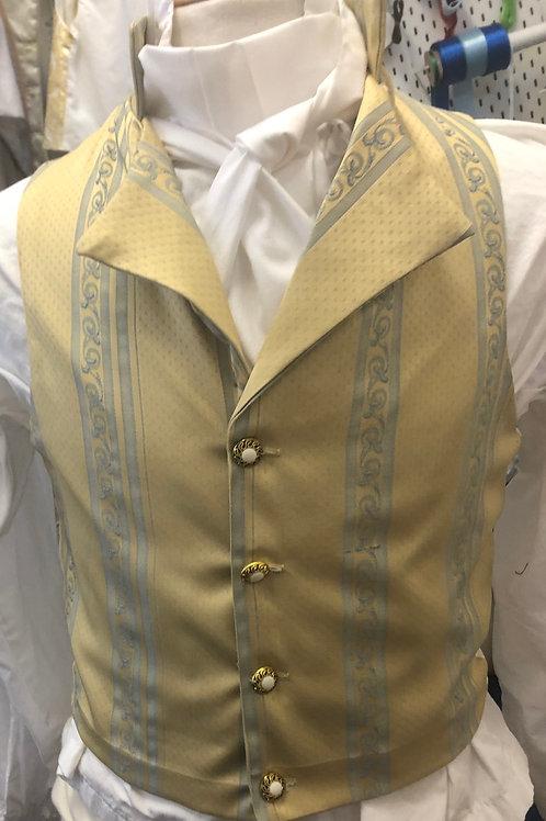 Yellow and blue waistcoat