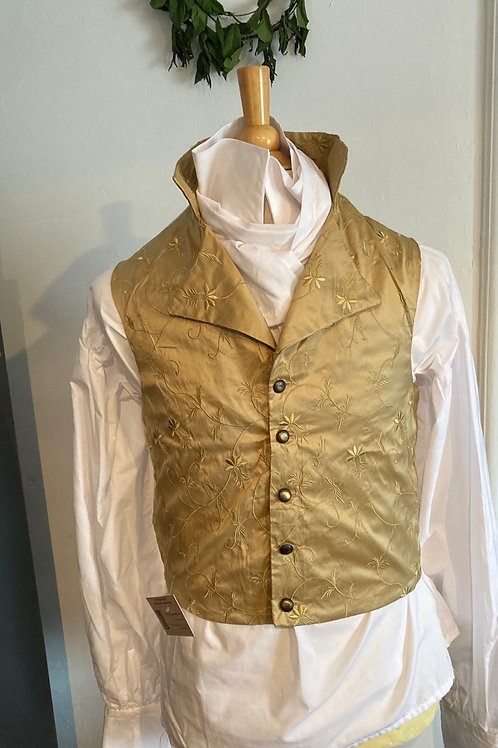 Gold embroidered silk  waistcoat