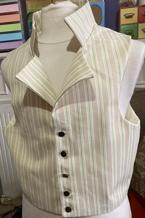 Stripe cotton twill waistcoat