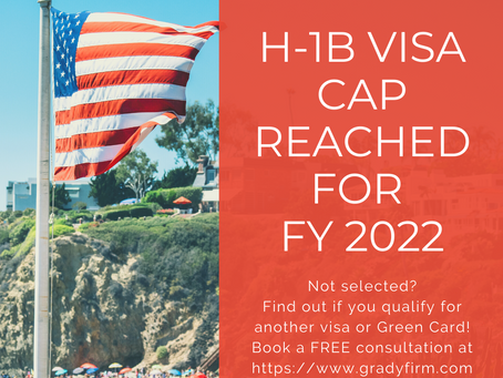 H-1B Cap Reached for FY 2022