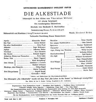 Program Alcestiad 1957