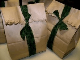 Brown Paper Bag Wrapping