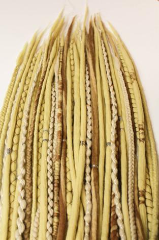wool dreadlocks cork