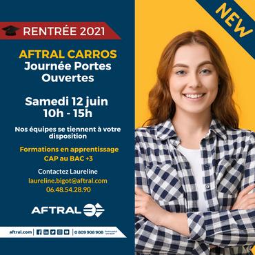 Information AFTRAL : 2e Journée Portes Ouvertes samedi 12 juin 2021