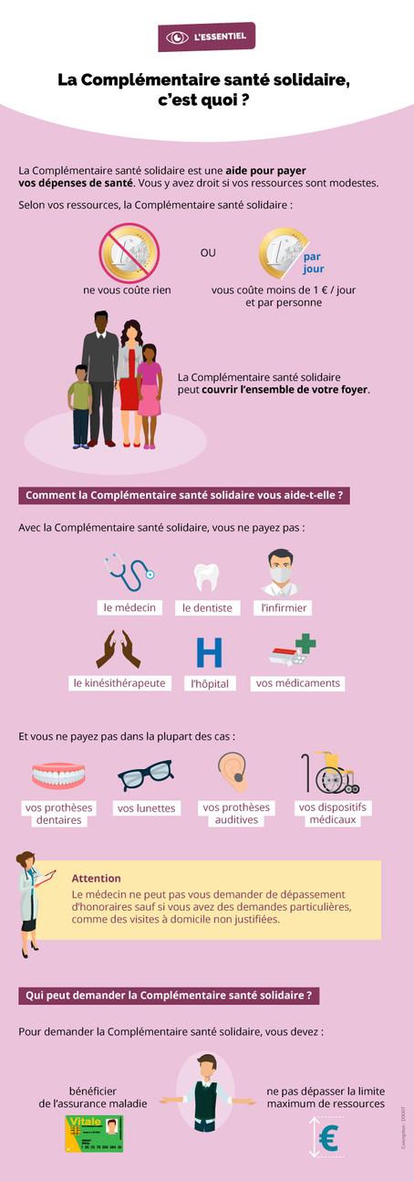 """Dossier """"La complémentaire Santé Solidaire, c'est quoi ?"""""""