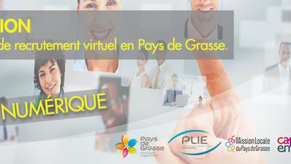 """""""Invitation entreprises"""" au 1er forum de recrutement virtuel en Pays de Grasse - Jeudi 27 mai 2021"""