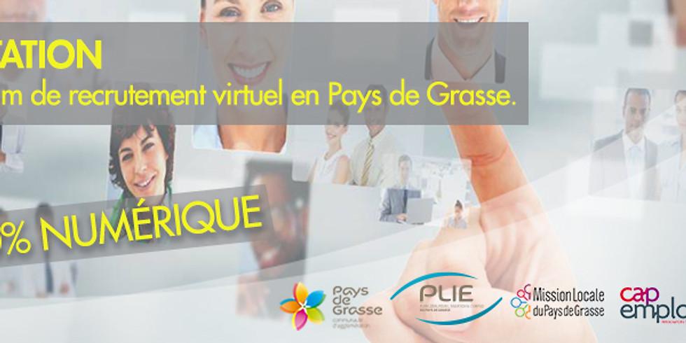 1er forum de recrutement virtuel en Pays de Grasse