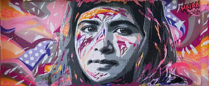 Graffiti réalisé par Jo Di Bona sur Le M