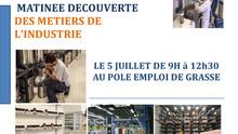 Matinée découverte des métiers de l'industrie au Pôle Emploi de Grasse