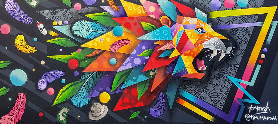 Graffiti réalisé par Tim Marsh sur Le Mu