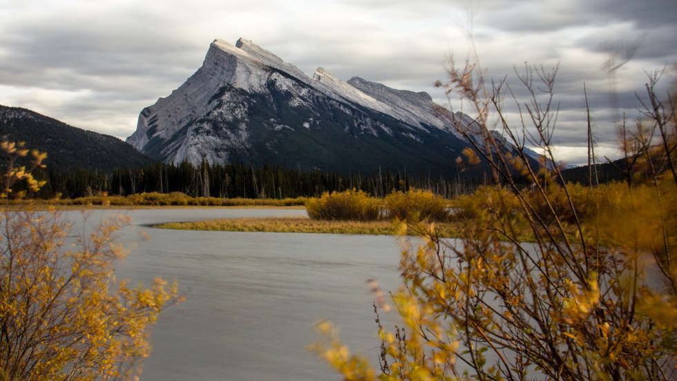 Mt Rundle in Fall