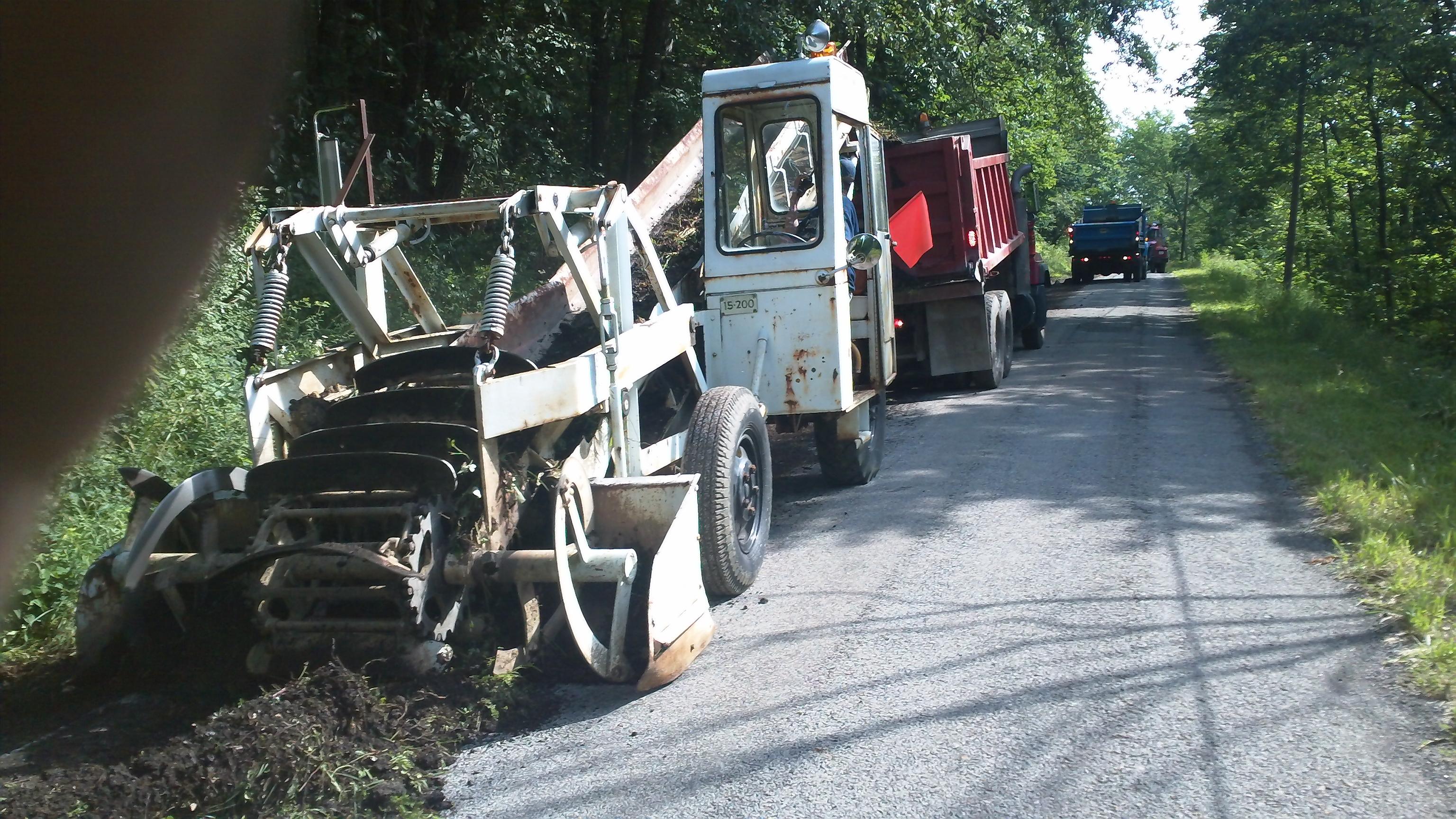 Road Department at Work