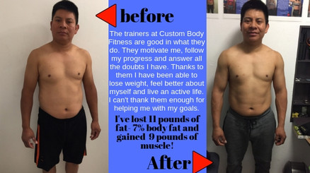 lose fat not muscle before and after