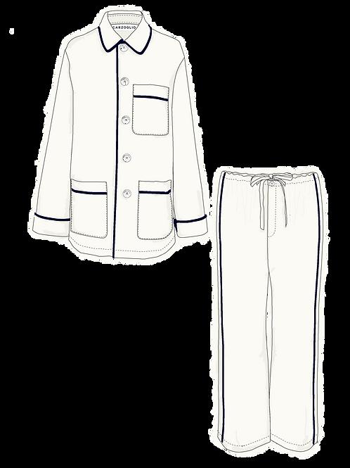 Pajamas OFF WHITE c/ vivo marino