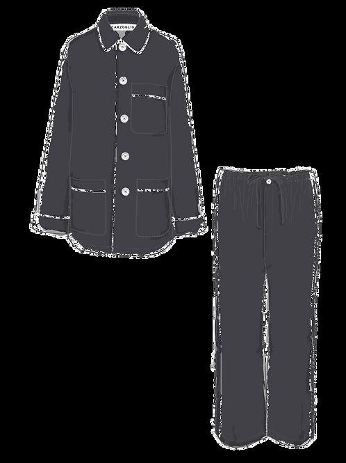 Pajama GRIS c/ vivo blanco