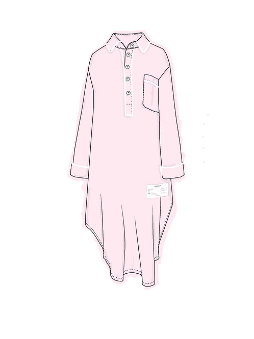 Nightshirt ROSA c/ vivo blanco