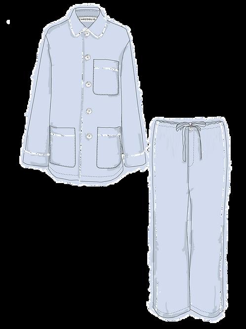 Pajamas CELESTE c/ vivo blanco
