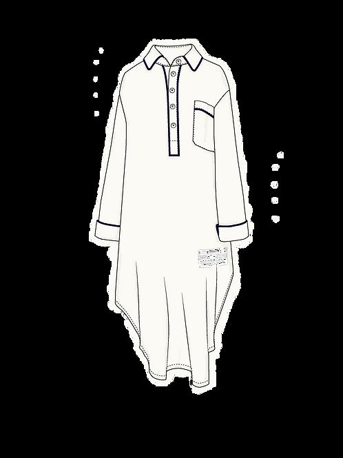 Nightshirt OFF WHITE c/ vivo marino