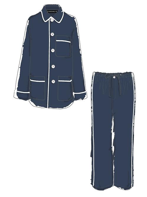 Pajamas MARINO c/ vivo blanco