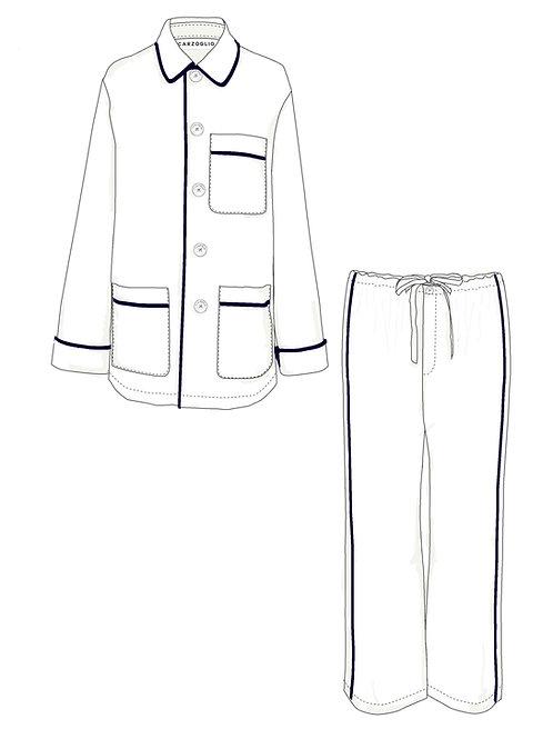 Pajamas BLANCO c/ vivo marino