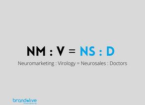 Neuromarketing : Virologi = Neurovendite : Medici in 1ma linea