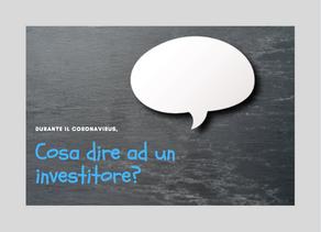 Corona virus: Cosa dire ad un Investitore?