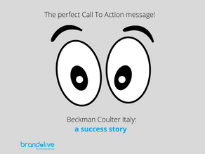 The perfect Call To Action message: Beckman Coulter Italy a success story