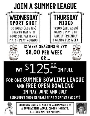 Summer Bowling Leagues at South Lanes
