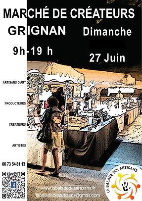 Marchés artisanaux à GRIGNAN MAI JUIN 20