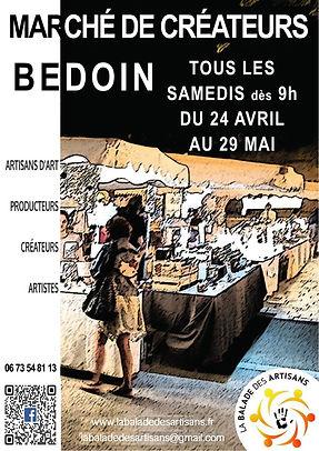 Marchés artisanaux à BEDOIN AVRIL MAI 20