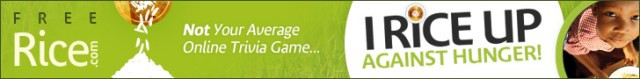 Freerice online game banner