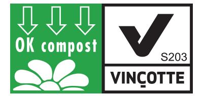 Vincotte logo showing certification for municipal composting