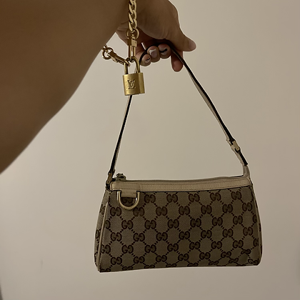 Vintage Gucci Canvas Hand Bag