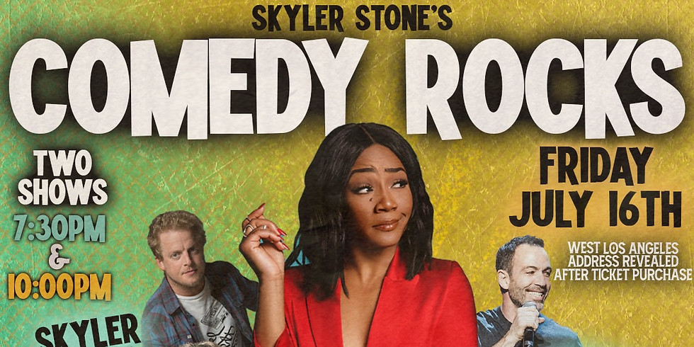 Comedy Rocks TONIGHT