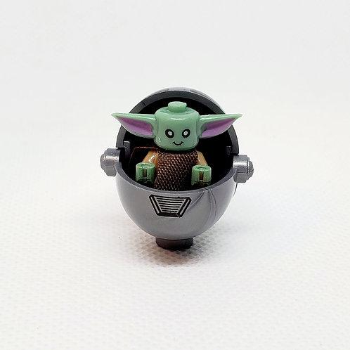 Baby Yoda (silver w/stripes)