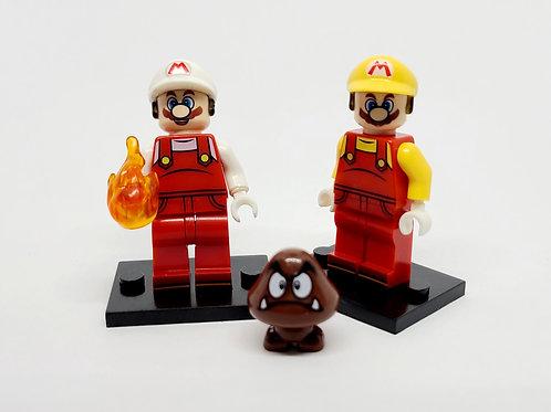 Fire Mario and Power Up Mario