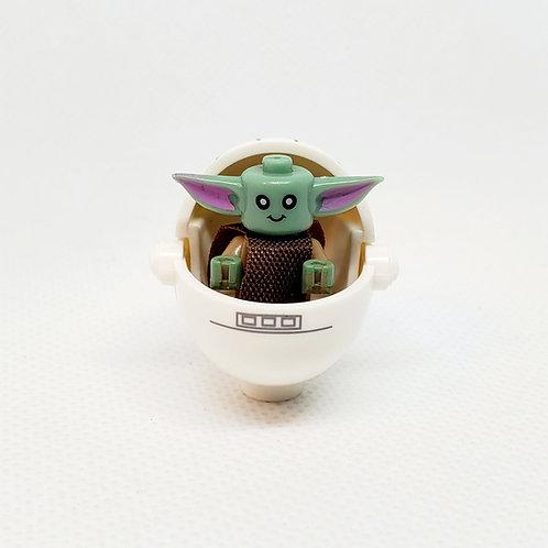 Baby Yoda (white w/stripe)