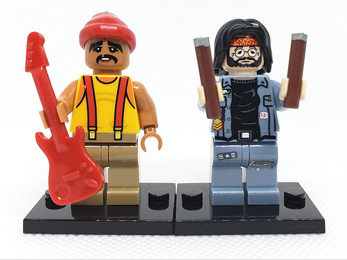Cheech & Chong Set. Complete with guitar and drumsticks!