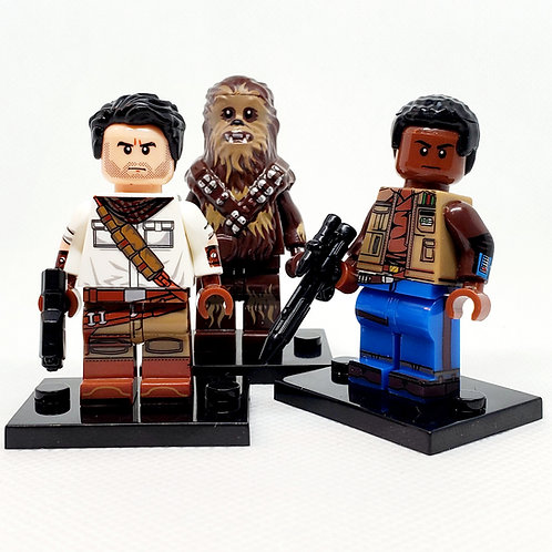 Poe,Finn,Chewbacca Set