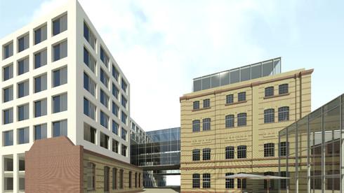 Neubau eines Gewerbegebäudes unter Einbezug denkmalpflegerischer Vorgaben, Köpenicker Straße