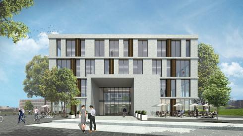 Stadtbauliches Konzept für einen Gewerbegebiet, Golm