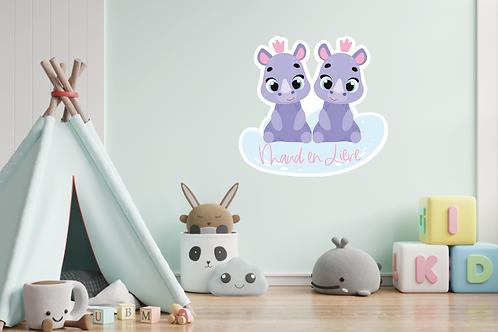 Geboortedecoratiebord 22