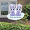 Thumbnail: Geboortebord tuin tweeling