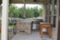 Conroe custom gourmet outdoor kitchen